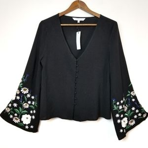 Cupcakes and Cashmere embroidered blouse